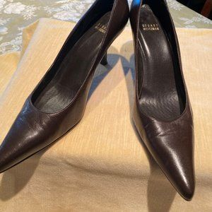 Stuart Weitzman Brown Leather Pumps (9.5M)